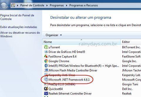 desinstalar Microsoft.NET Framework 4.0