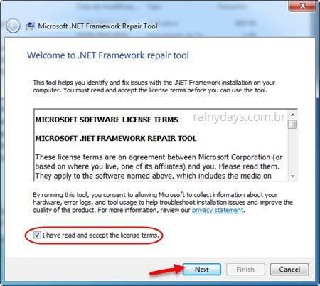 erro Kaspersky Microsoft.NET Framework 4.0