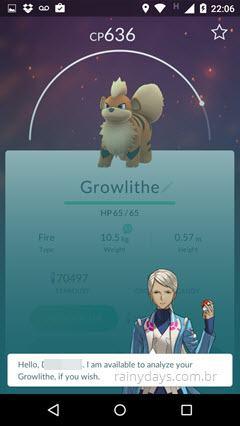 Significado das frases do Appraise no Pokémon Go