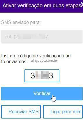 Ativar verificação em duas etapas no Yahoo 3