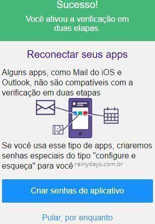 Ativar verificação em duas etapas no Yahoo 4