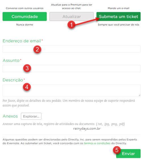 como excluir conta do Evernote 2