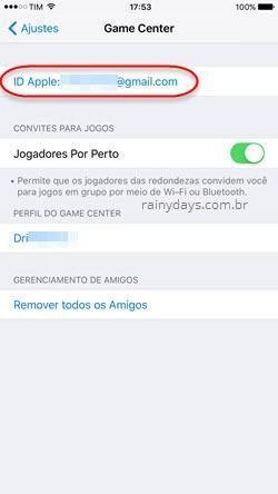 Como entrar e sair do Game Center no iOS 10