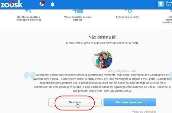 Como excluir conta do Zoosk