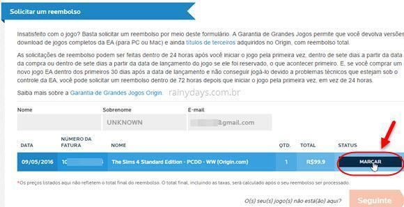 Como pedir reembolso na Origin EA