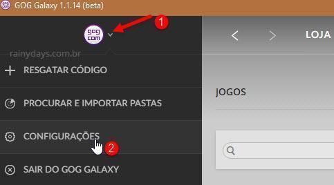 Remover GOG Galaxy da inicialização do sistema