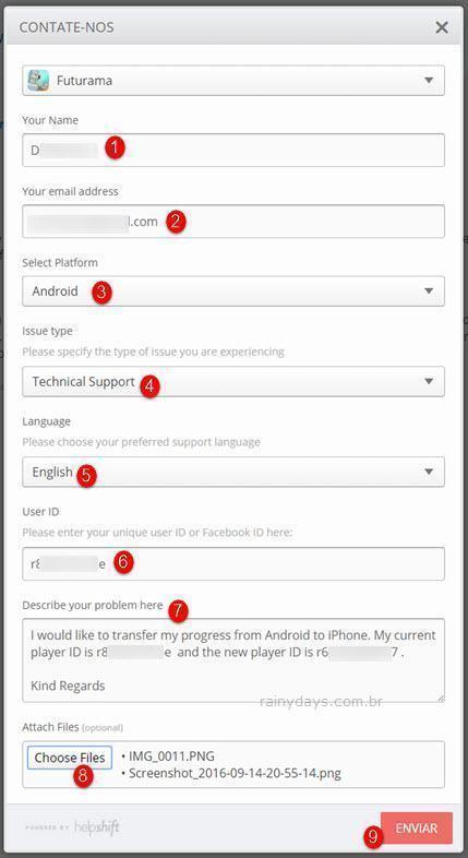 Transferir jogo do Futurama do Android para iPhone 2