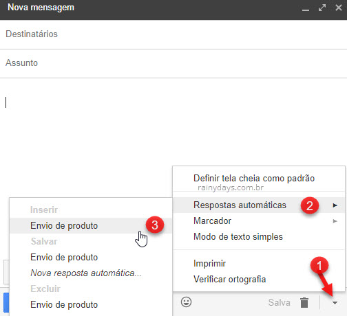 Como criar respostas automáticas no Gmail
