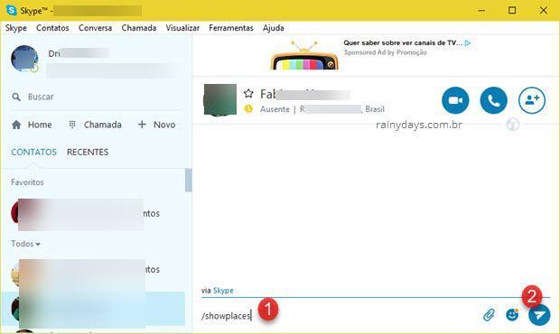 Como deslogar remotamente do Skype