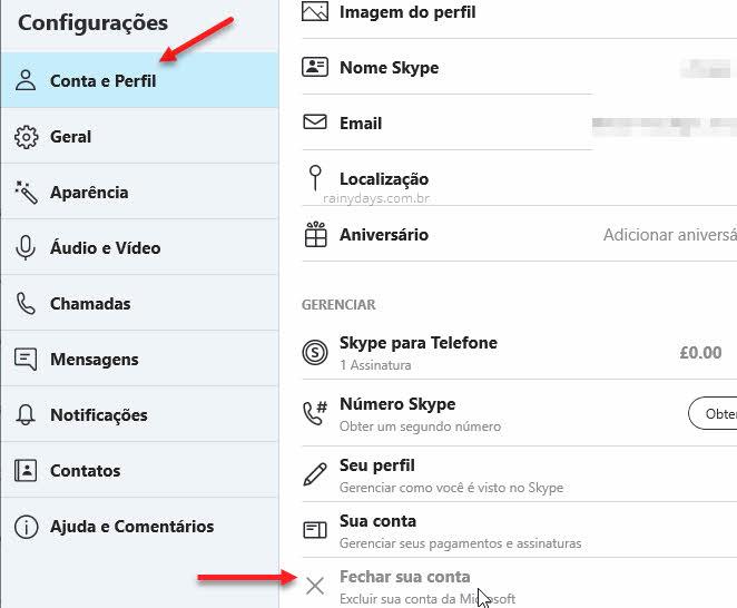 Como excluir conta do Skype permanentemente, Microsoft, cancelar assinatura
