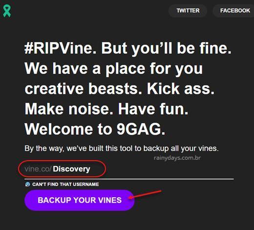 Como fazer backup dos vídeos do Vine 2