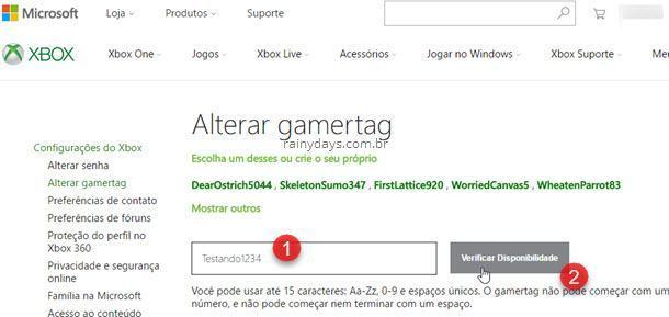 Como mudar gamertag do Xbox