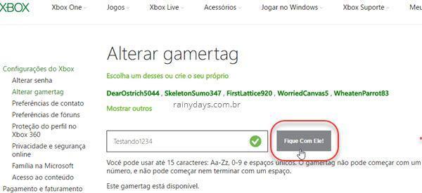 Como mudar gamertag do Xbox 2