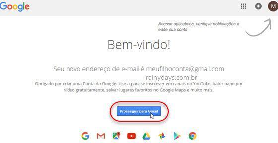 criar conta do Gmail 3