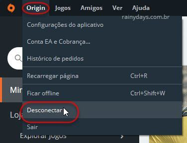 desconectar Origin