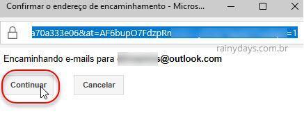 encaminhamentos de emails no Gmail