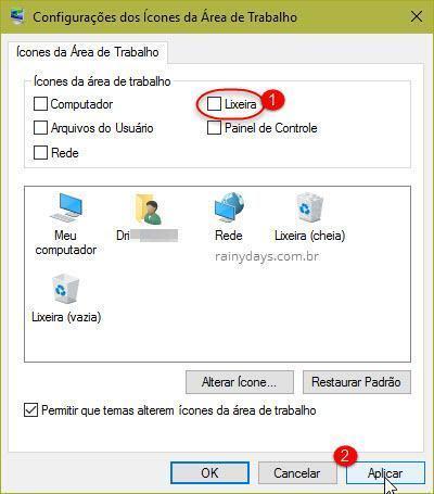 Ícone da Lixeira sumiu no Windows