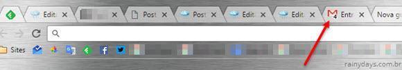 Mostrar ícone de mensagens não lidas na aba do Gmail 2