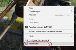 Ícone da Lixeira sumiu no Windows 10