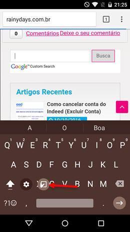 usar modo polegar no teclado Google