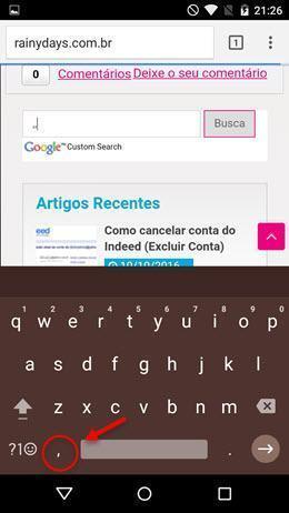 usar teclado Google com uma mão só