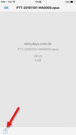 abrir arquivo opus no iOS iPhone