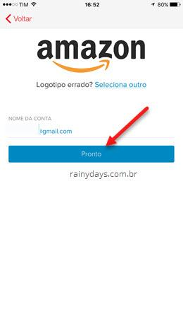 Adicionando Amazon no Authy 1