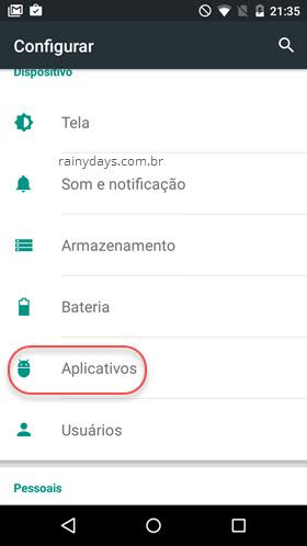 Aplicativos do Android