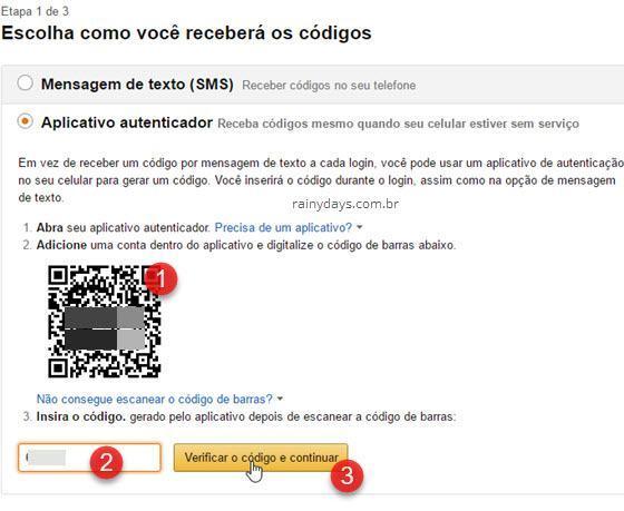 Ativar verificação em duas etapas Amazon 3
