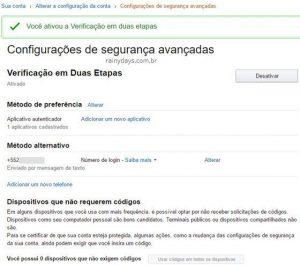 Ativar verificação em duas etapas Amazon