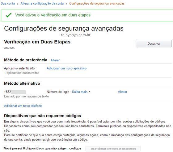 Ativar verificação em duas etapas Amazon 5