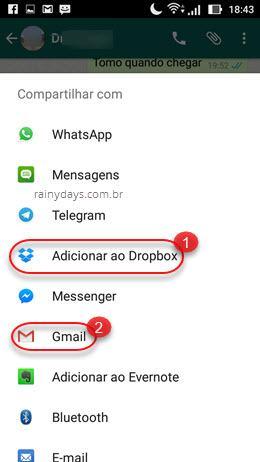 Como baixar mensagens de áudio do WhatsApp no Android 3