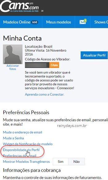 Como excluir conta do Cams.com 2