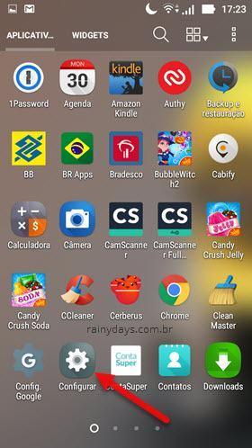 Configurações do Android