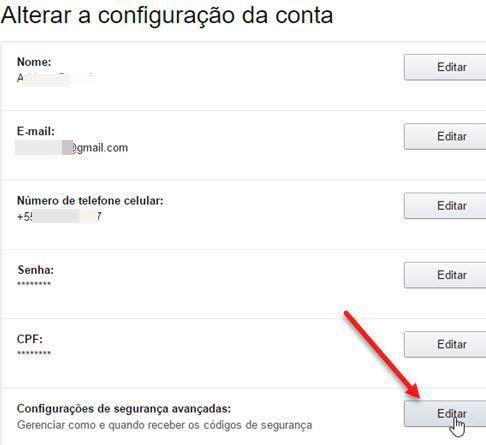 Configurações de segurança avançadas Amazon