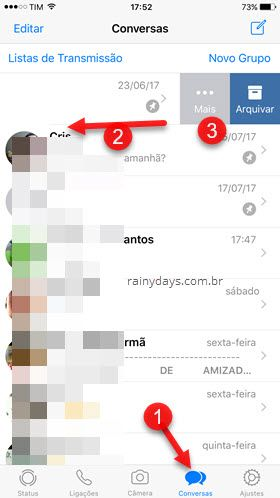 Conversas Mais WhatsApp iOS