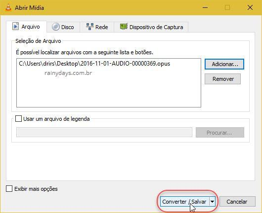 Como converter áudio do WhatsApp opus para mp3 (2)