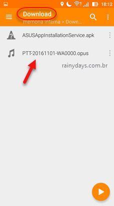 Escutar arquivo de áudio opus VLC Android 5