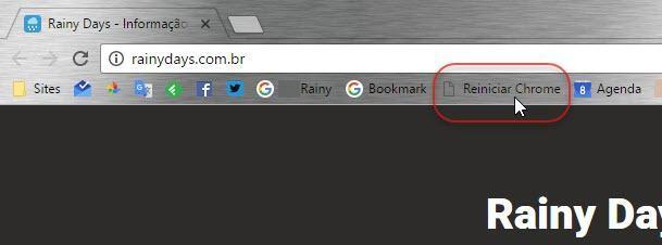 Favorito para reiniciar Chrome