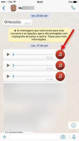 salvar mensagens de áudio do WhatsApp no iOS 1