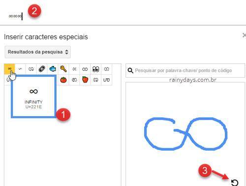 adicionar símbolos no Google Docs desenhando