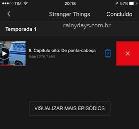 Apagar programas baixados no Netflix 2