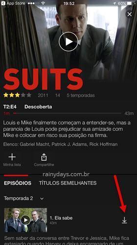botão download do Netflix