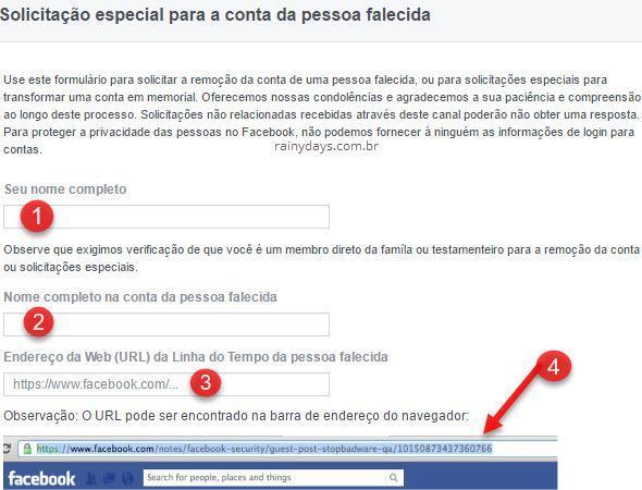 Como excluir Facebook de pessoa que morreu 1