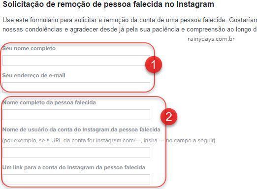 Como excluir Instagram de pessoa falecida