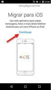 Como migrar do Android para iPhone