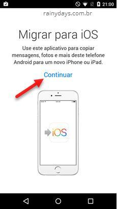 Como migrar do Android para iPhone 2