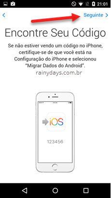 Como migrar do Android para iPhone 4