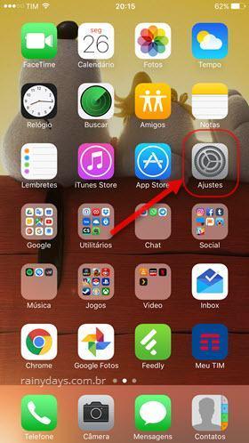 ícone Ajustes iOS