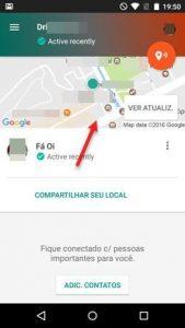 Compartilhar localização com contatos de confiança Google